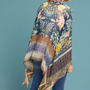 NWT Anthropologie Liza Floral Kimono